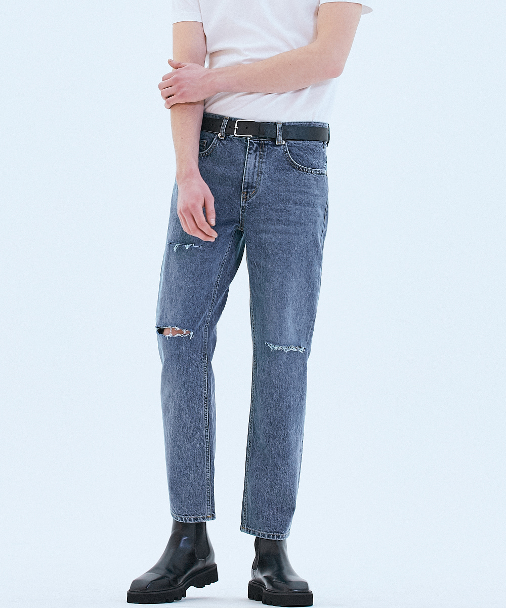 [리퍼브상품]062 Tapered fit urban crew jeans Fine blue